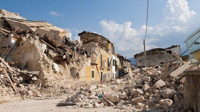 地震後の景色
