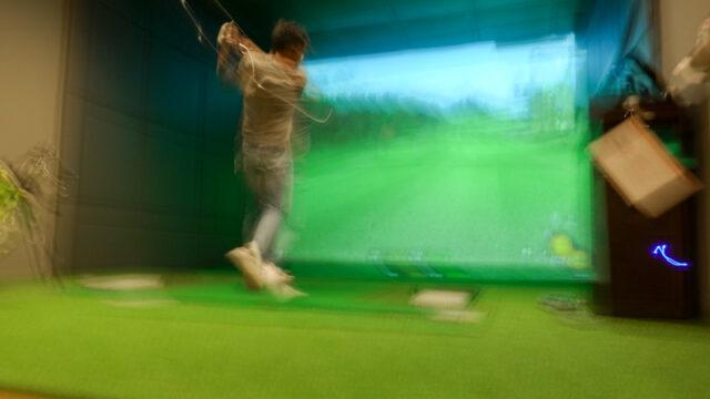 シュミレーションゴルフプレイ中